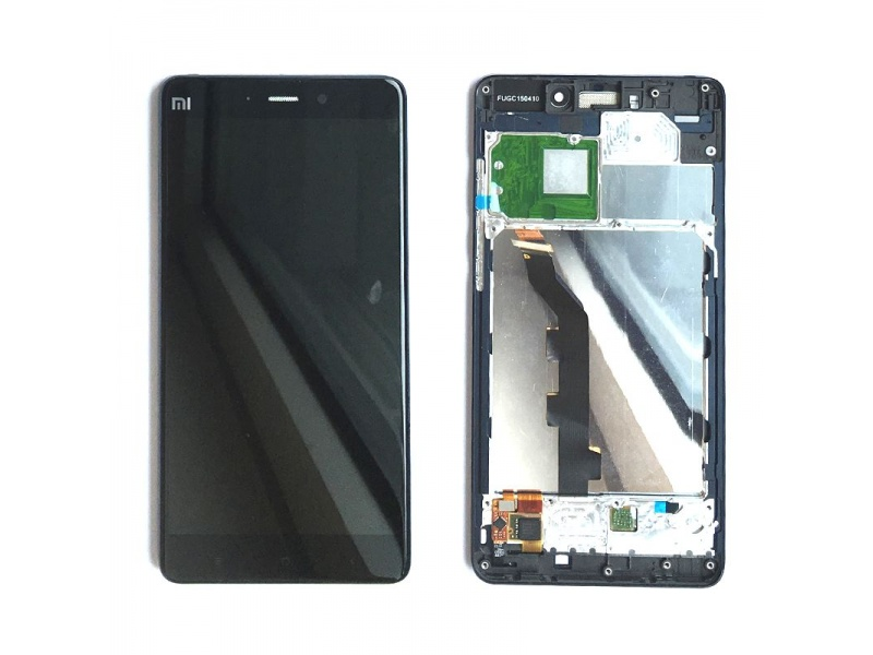 Xiaomi Mi Note LCD + Touch + Frame (Assembled) - Black (OEM)