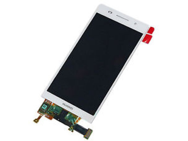 LCD + Touch + Frame (Separated) pro Huawei P6 - White (OEM)