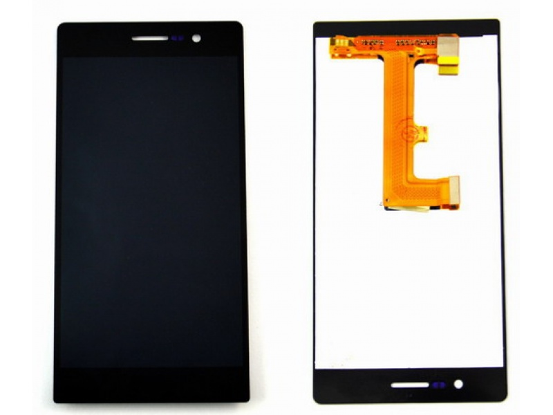 LCD + Touch + Frame (Separated) pro Huawei P7 - Black (OEM)