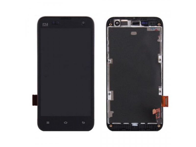Xiaomi Mi2 LCD + Touch + Frame (Assembled) - Black (OEM)
