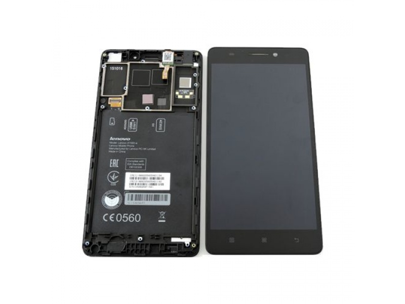 LCD + Touch + Frame (Assembled) pro Lenovo A7000 Black (OEM)