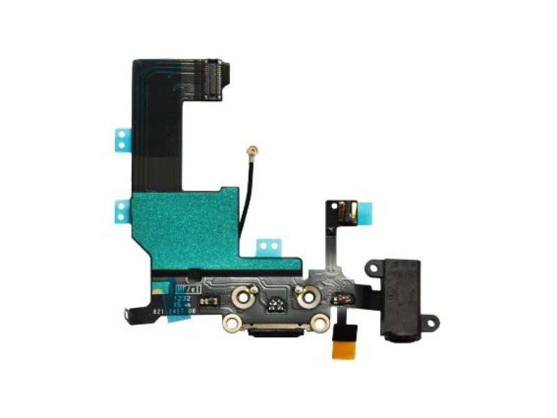 Charging Dock + Audio Jack Connector Flex Black pro Apple iPhone 5C