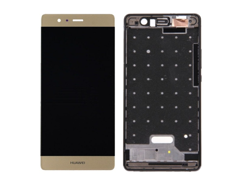LCD + Touch + Frame (Separated) pro Huawei P9 - Gold (OEM)