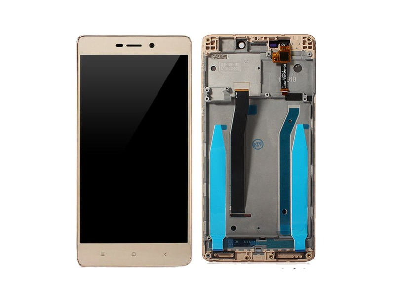 Xiaomi Redmi 3S LCD + Touch + Frame (Assembled) - Gold (OEM)