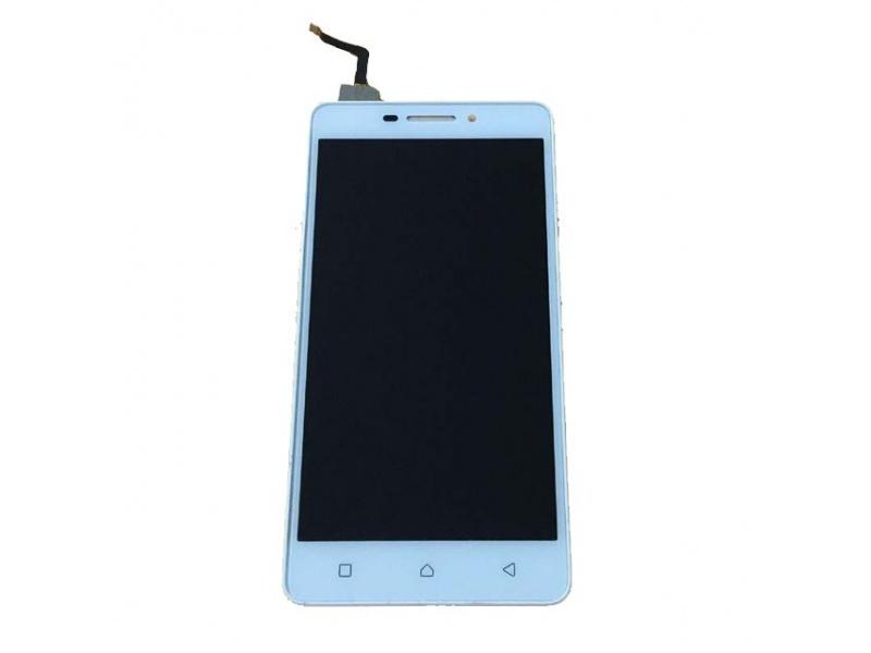 LCD + Touch + Frame (Assembled) pro Lenovo Vibe P1m White (OEM)