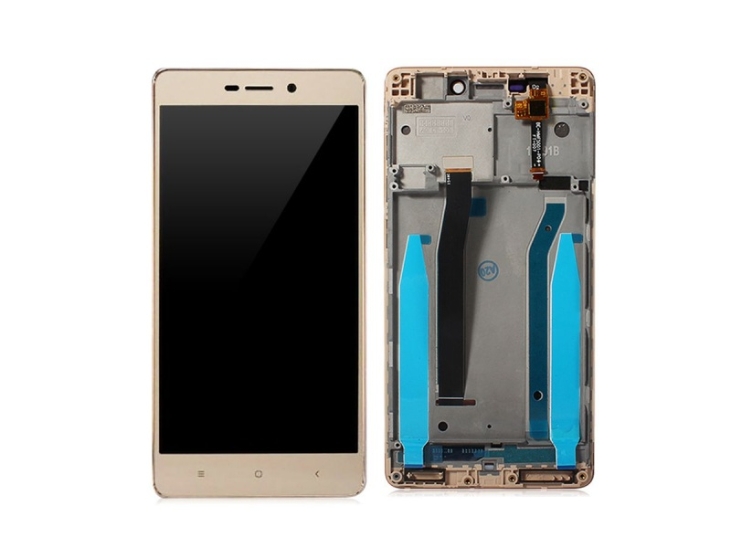 Xiaomi Redmi 3 PRO LCD + Touch + Frame (Assembled) - Gold (OEM)
